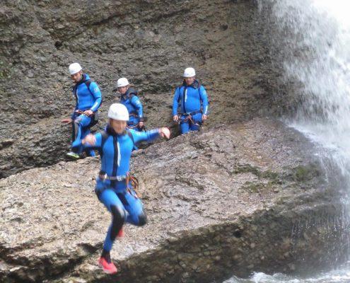 Canyoning im Ostertalbach im Allgäu