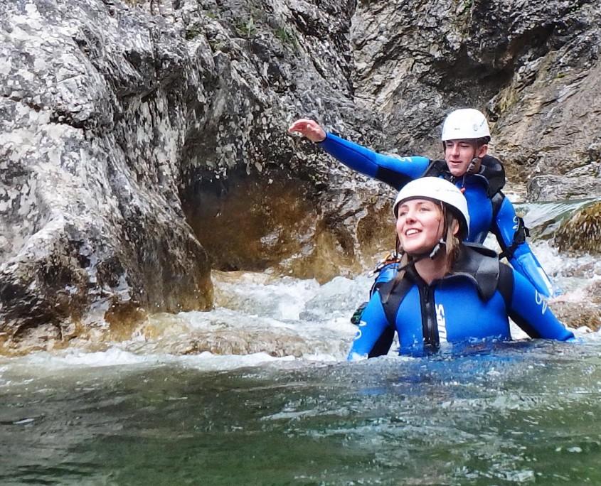 Geführte Canyoning-Tour im Allgäu und Tirol