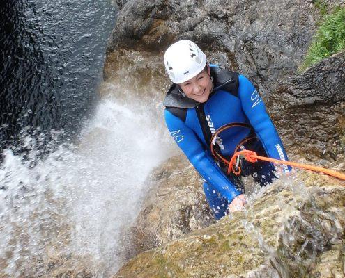 Canyoning-Tour bei den Stuibenfällen am Planseee