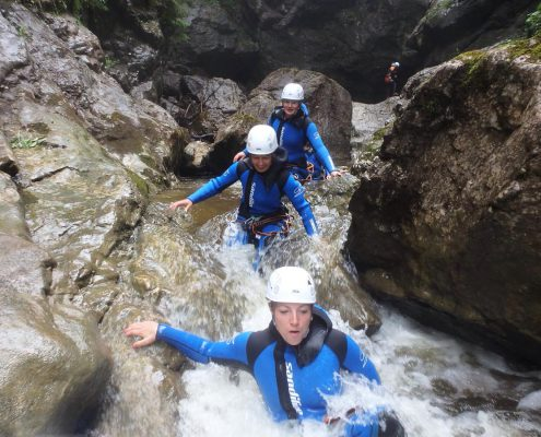 The Over and Out Canyoning-Tour in der Starzlachklamm