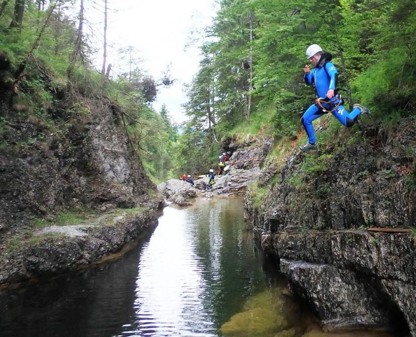 sportliche Canyoning Ganztagestour