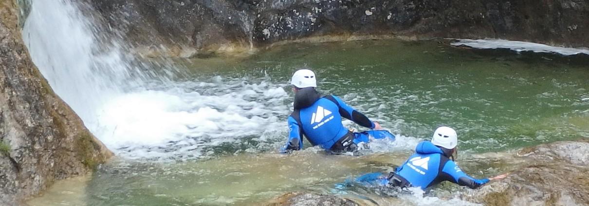 Sportliche Canyoning-Touren im Allgäu